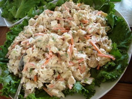 Pinapple chicken salad