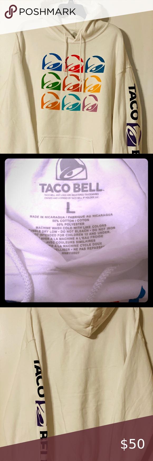Nwt Taco Bell Hoodie Hooded Sweatshirt Men S Large Hooded Sweatshirt Men Hooded Sweatshirts Mens Sweatshirts