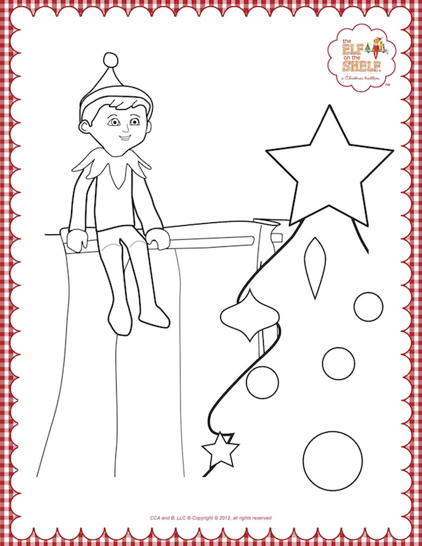 Christmas Coloring Pages Molde