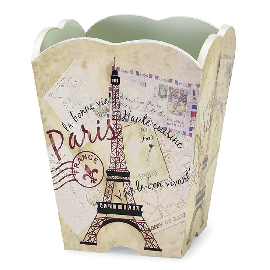 Greetings from Paris Wastebasket - Furniture, Home Decor and Home Furnishings, Home Accessories and Gifts | Expressions