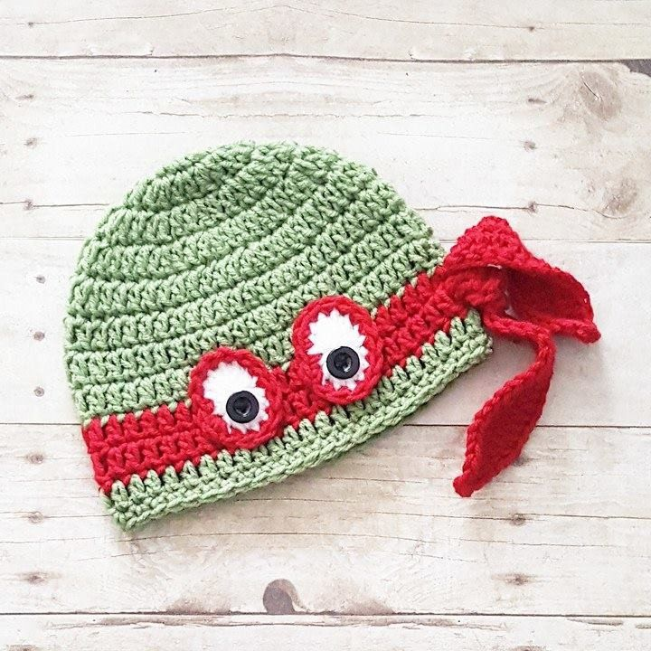 2d485827ae498 Crochet Ninja Turtle Hat Beanie Newborn Baby Infant Toddler Child Adult  Handmade…
