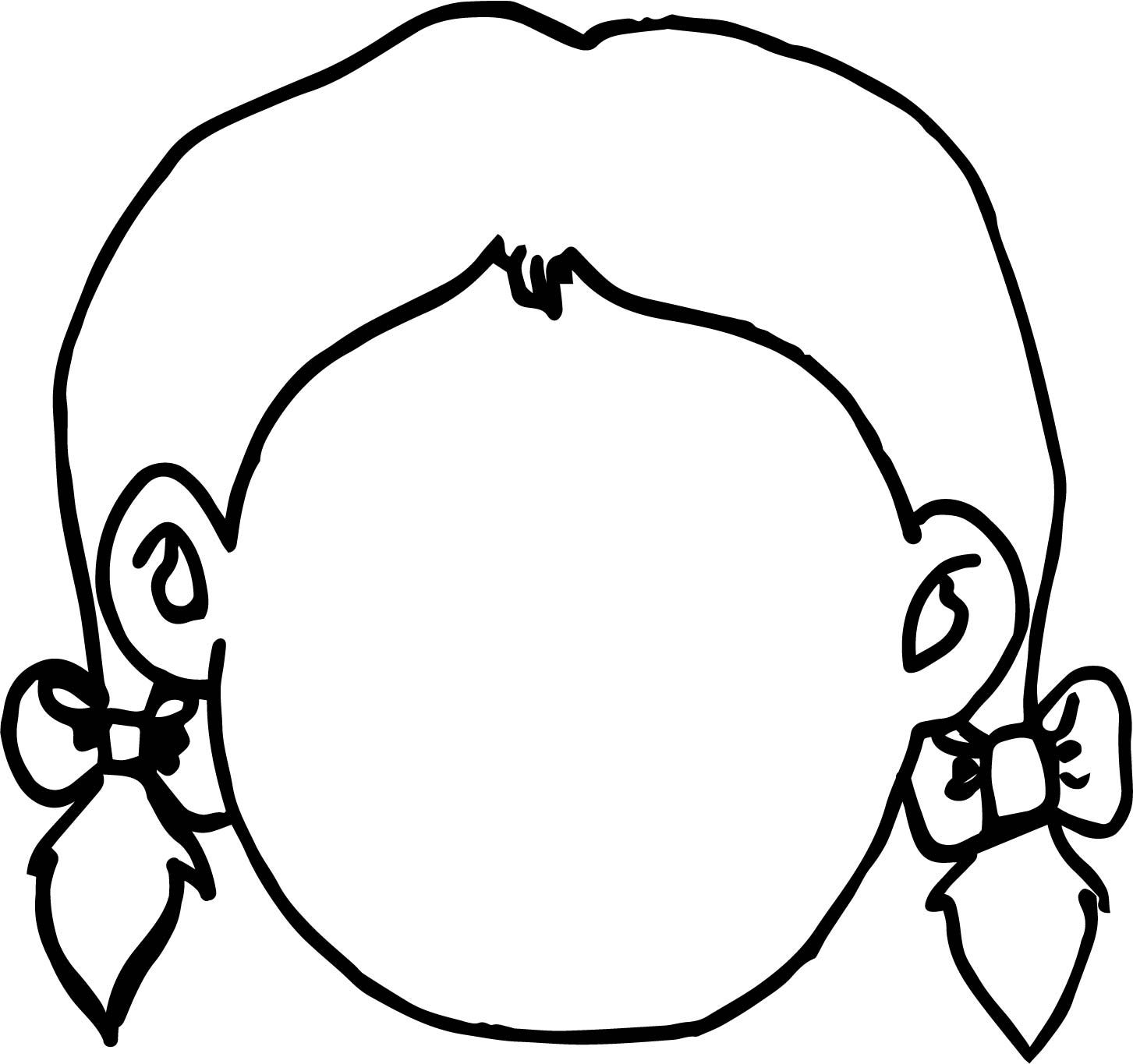 Empty Girl Face Coloring Page Wecoloringpage Face Template Face Drawing Coloring Pages
