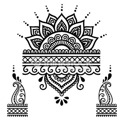 henna tattoo flower templatemehndi vector art thinkstock. Black Bedroom Furniture Sets. Home Design Ideas