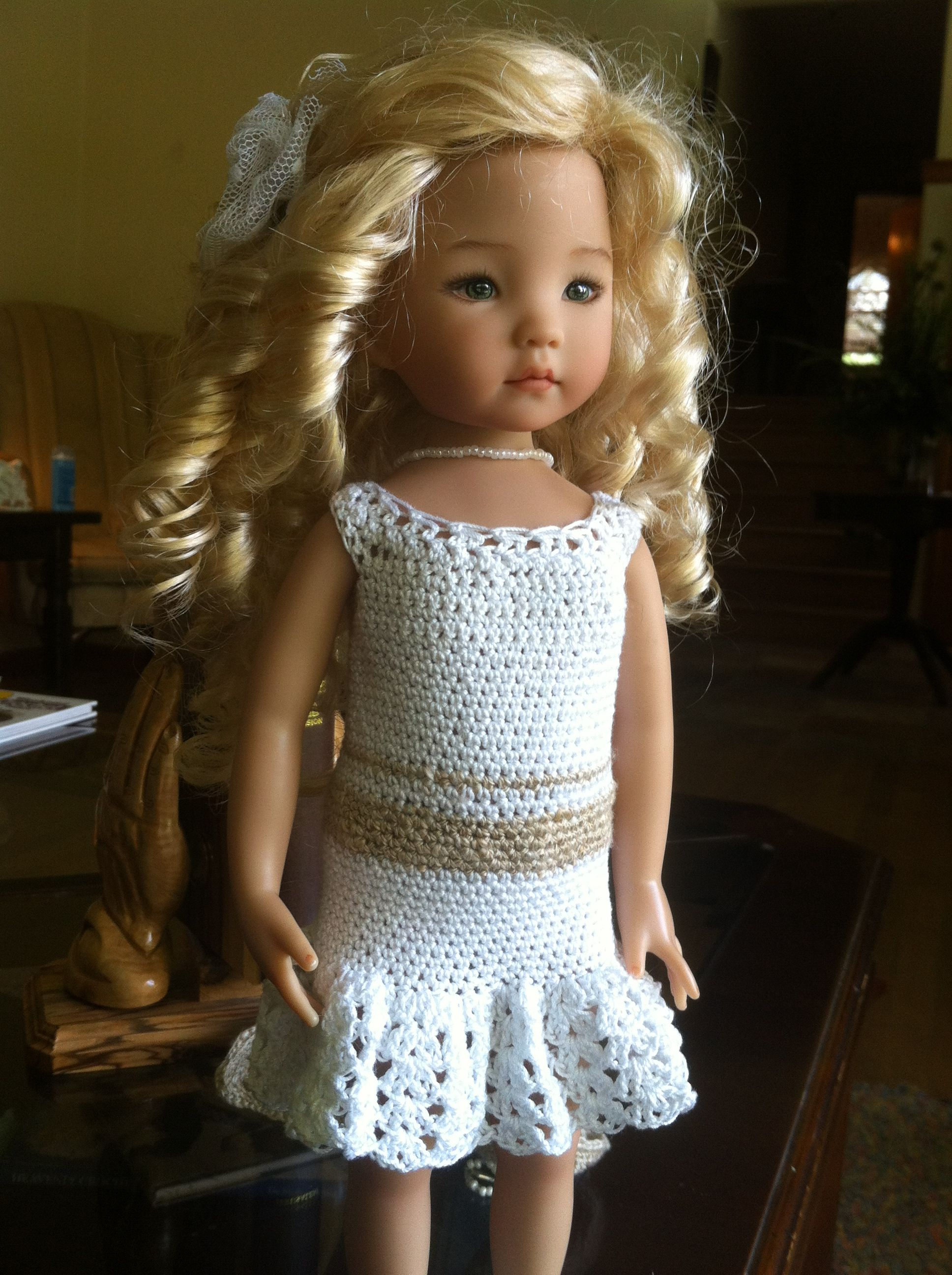 This is the dress without the jacket that I crocheted for my mom for Mother's Day.