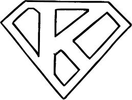 Afbeeldingsresultaat voor superman logo alphabet