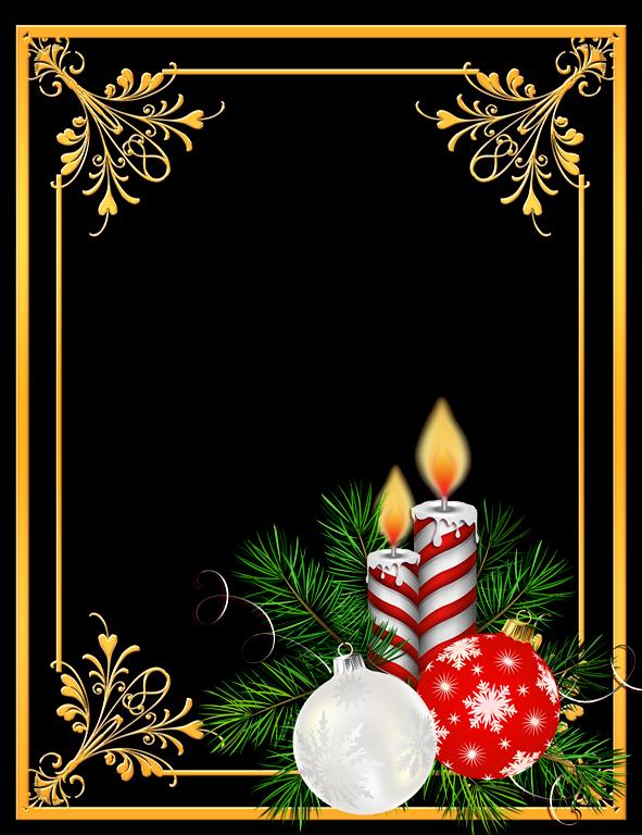 Borde De Foto Navidad Tarjetas Christmas Christmas Frames Y