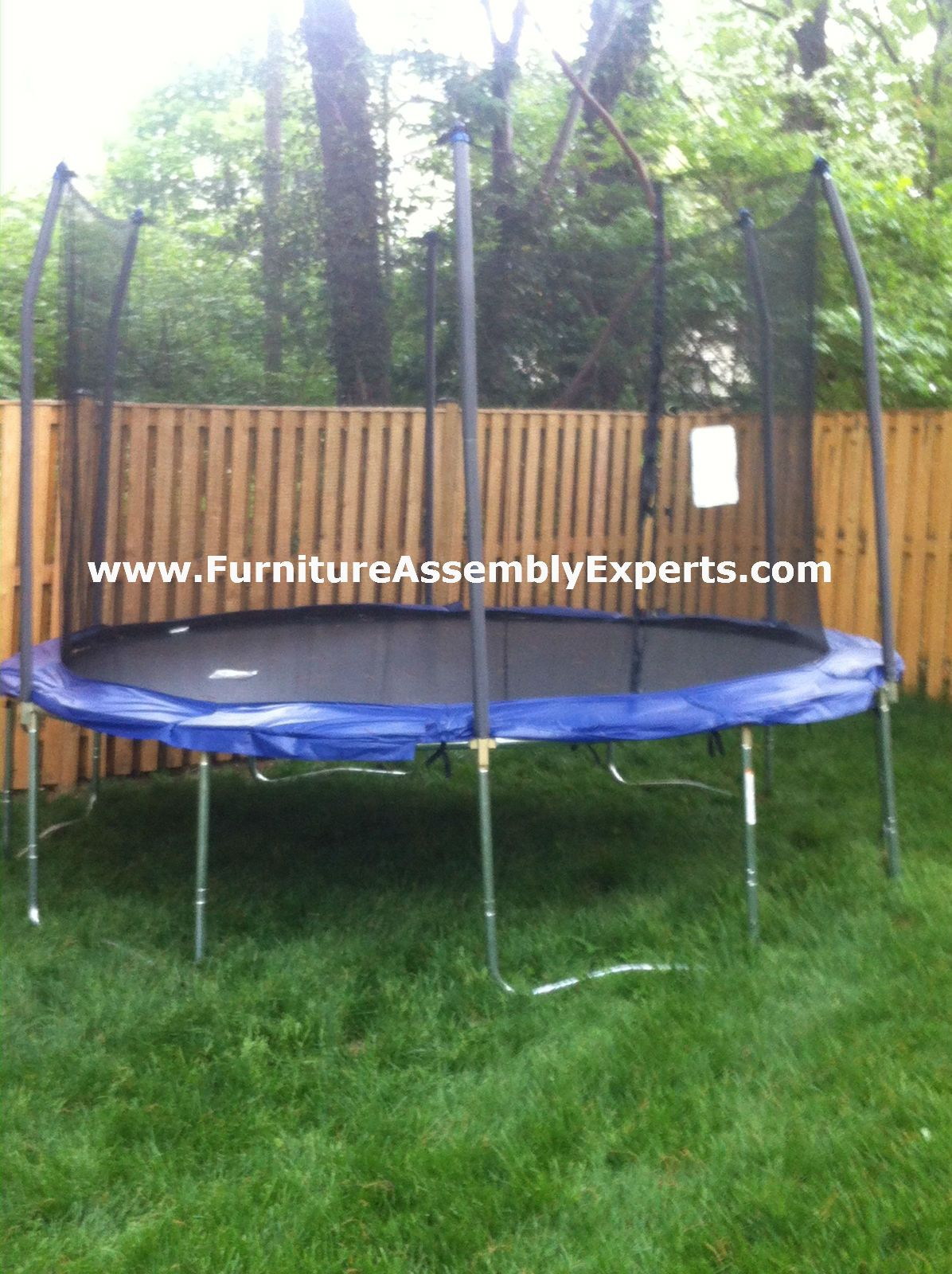 walmart trampoline assembled in bowie md for a customer at her home by furniture assembly experts llc