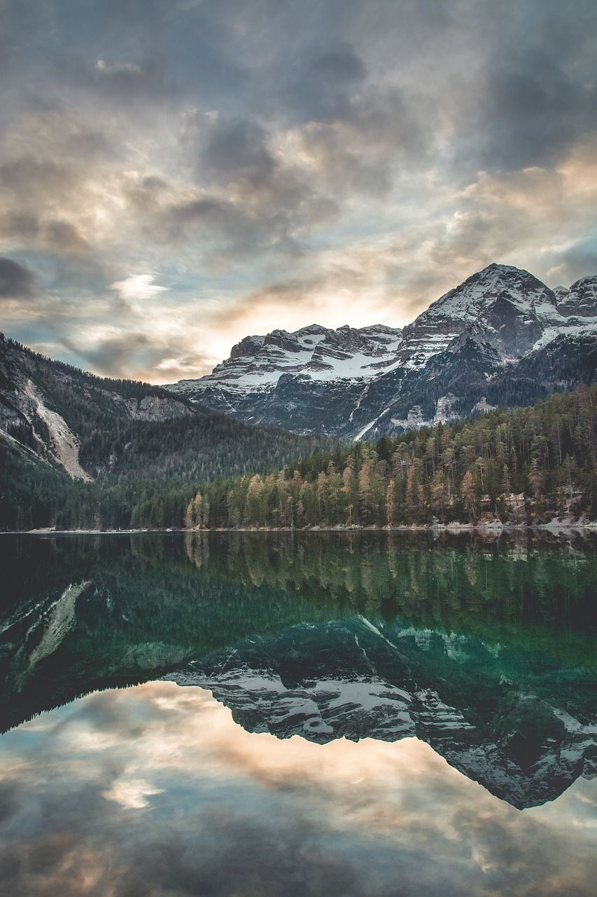 Forest Lake Water Reflection Mountain Trees Forest Lake Water Reflection Mountain Trees Lake Photography Scenic Photography Lake