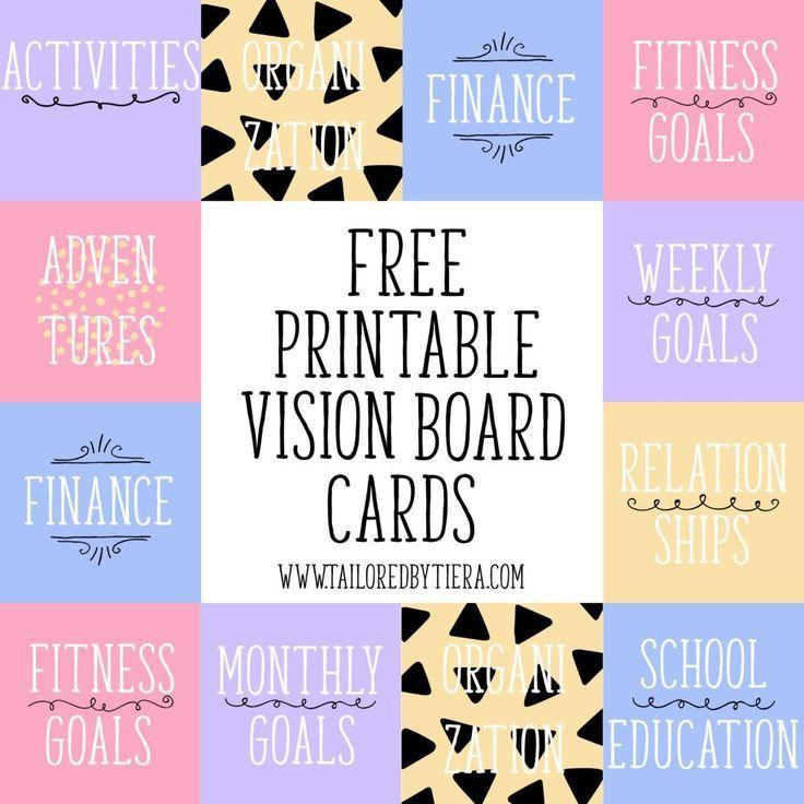 Goals Board DIY Free Printables goals memes lifestyle