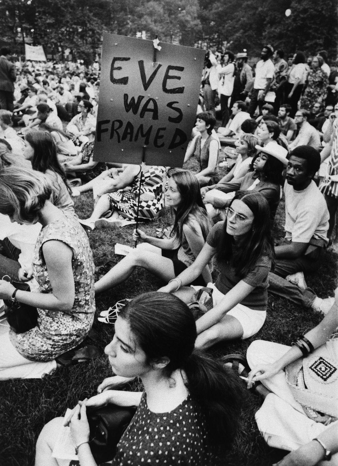 """eve Framed"" Of Mottos -wave Feminist Movement Women"