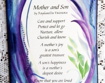 Mother Son Poem 5x7 Poster Original Words Sentimental Family Saying