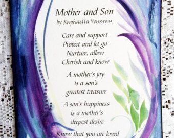 MOTHER SON POEM 5x7 Poster Original Words Sentimental Family Saying