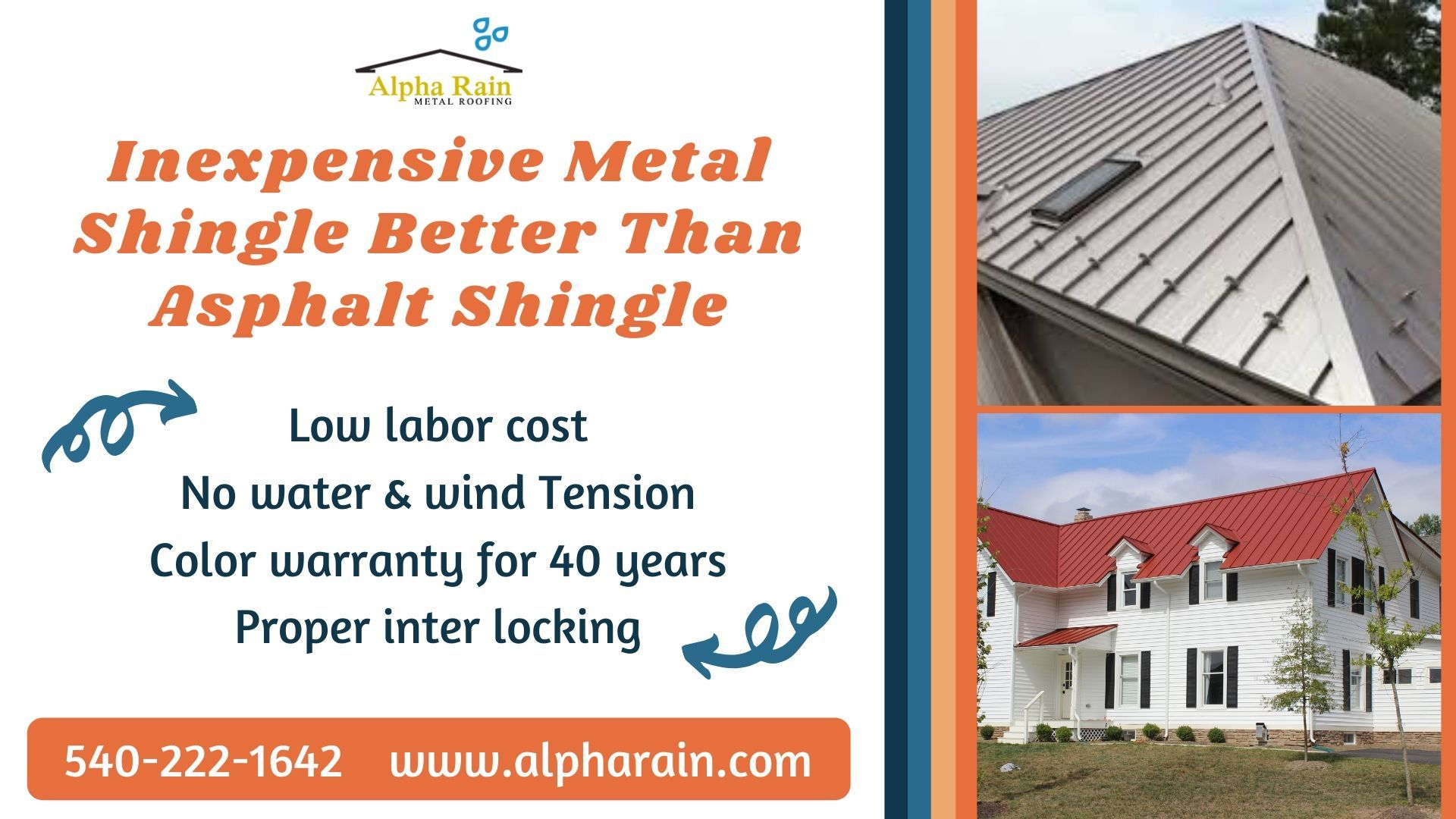 Installing Metal Shingles At Reasonable Price Alpha Rain In 2020 Metal Shingle Roof Shingling Metal Shingles