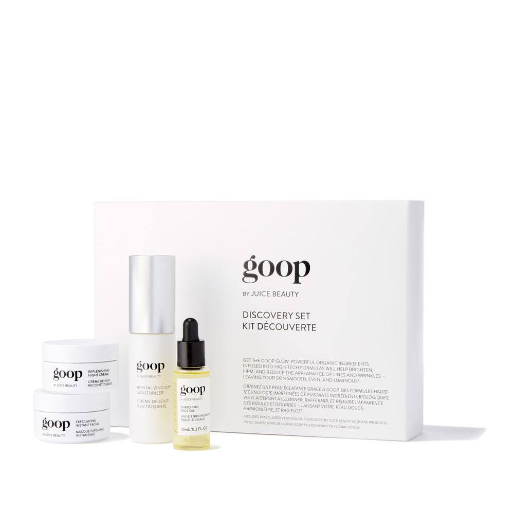 Discovery Set Goop By Juice Beauty Goop Shop In 2020 Juice Beauty Skincare Video Travel Size Products