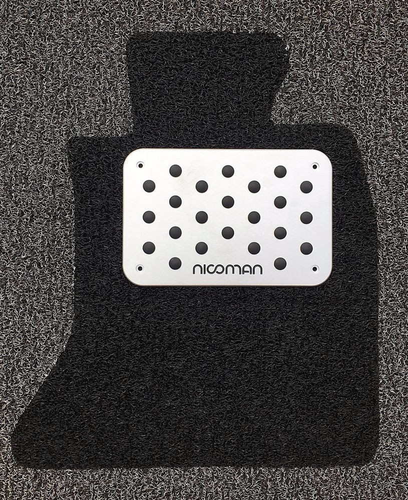 Rubber floor mats vw passat - Details About Nicoman Aluminum Rubber Alloy Metal Car Mat Footwell Heel Pad Plate Footrest Set