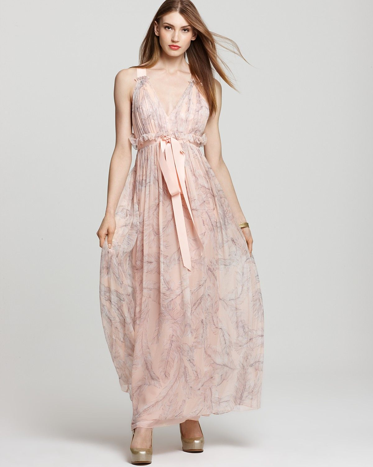 Jill Stuart Dresses Dress Gown Printed Belted