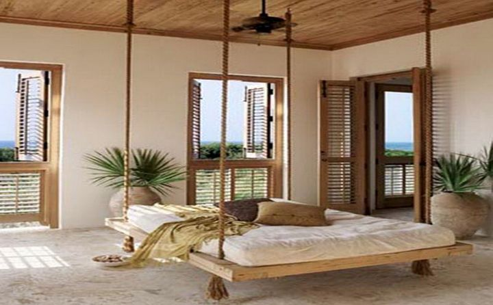 18 Homely Hanging Bed Designs That Will Swing You To Sleep With Images Canopy Bedroom Canopy Bed Frame Sunroom Designs