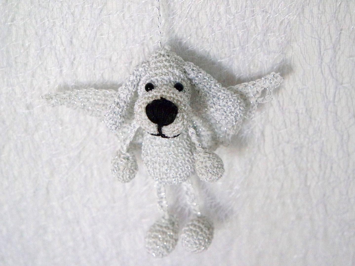 Ein Hund wie ein Engel. :-) Häkelanleitung Schlüsselanhänger ...