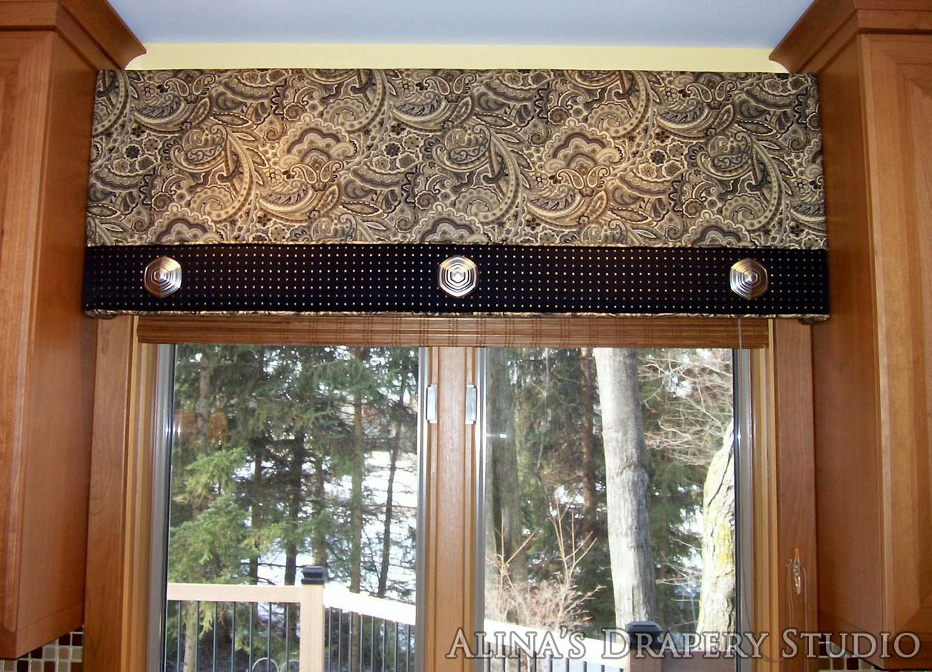 Marvelous Window Treatments Embroidered Arched Cornice Kitchen Cornice .