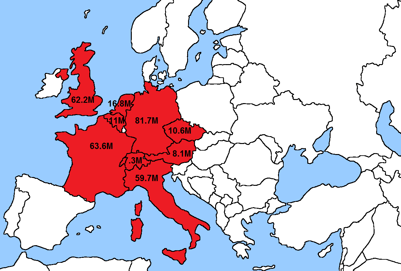 How the US population fits in Europe More population fits maps