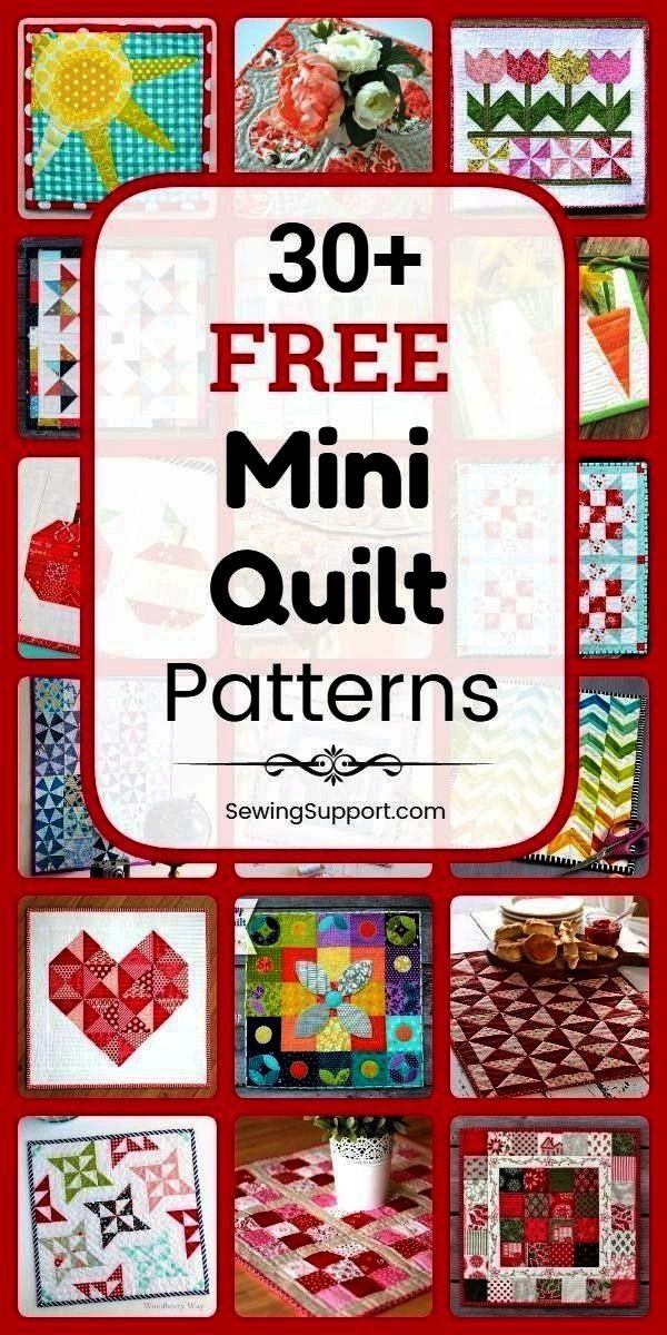 Quilt Patterns  Free Quilt Patterns for Mini Quilts Over 30 free mini quilt patterns tutorials and diy sewing pr 30 Free Mini Quilt Patterns  Free Quilt Patterns for Mini...