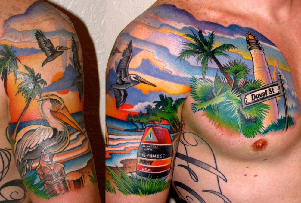 Key west tattoo by ken hoffa i would never get this but for Best tattoo artist in florida
