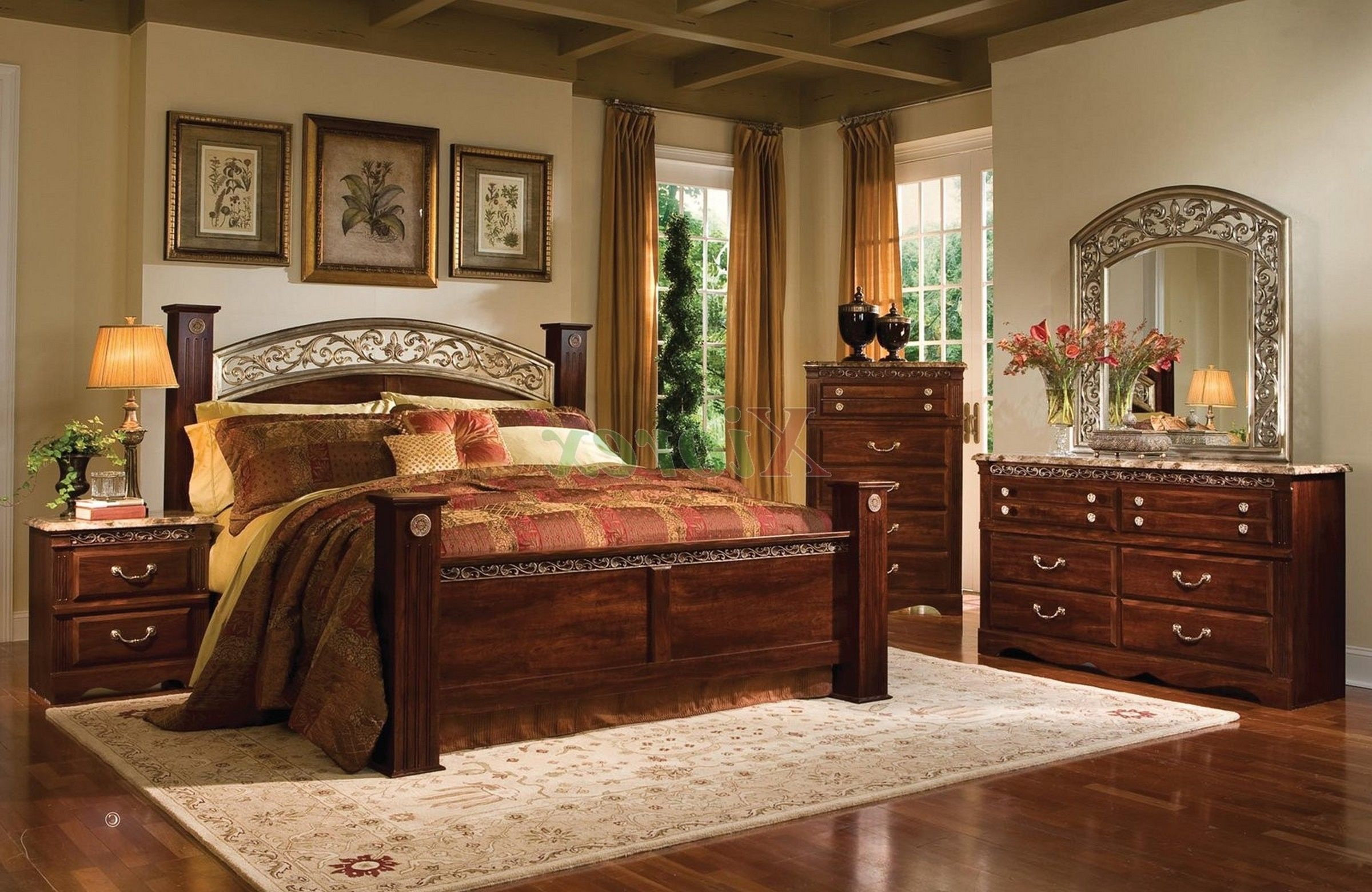 wood furniture bedroom design picture1 - Wooden Bedroom Design