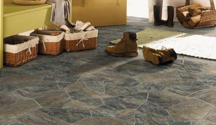 Cheap stone floor! :) Lino (Sheet Vinyl) Available at Riverbend ...