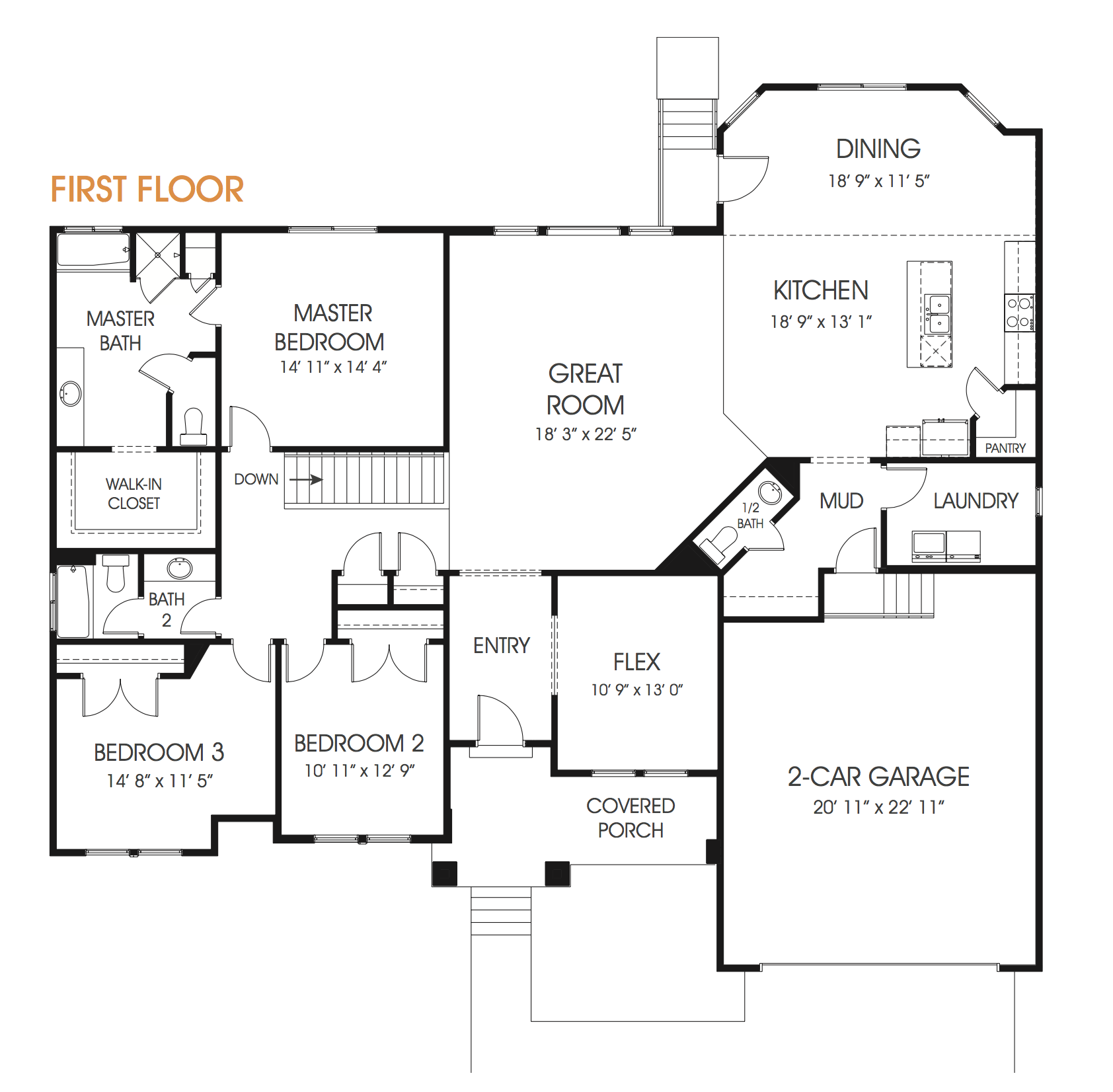 Olivia Is A An Upscale Rambler Floor Plan Spacious With 3 Bedrooms To Meet Your Family S Needs Perfect For Your Ne Floor Plans Little House Plans How To Plan