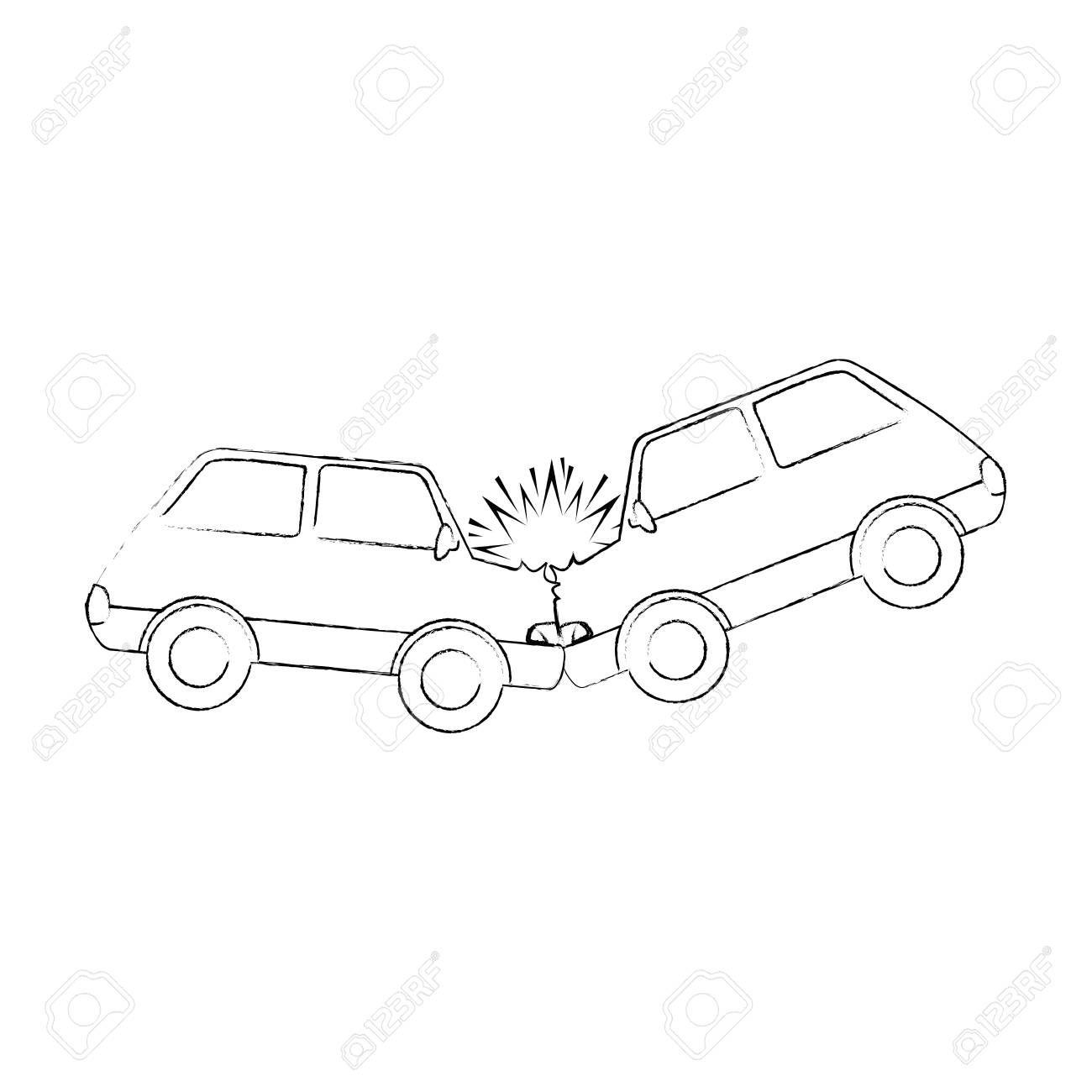 Cars Crash Accident Icon Vector Illustration Design Aff Accident Crash Cars Icon Desi Vector Illustration Design Guitar Illustration Guitar Sketch
