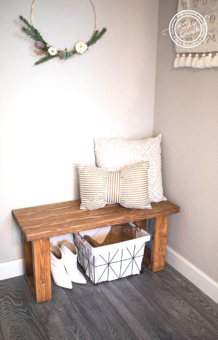Entryway Bench And Mirror