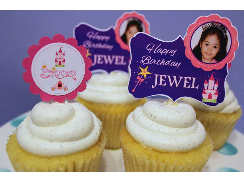 Princess Cupcake Photo Topper