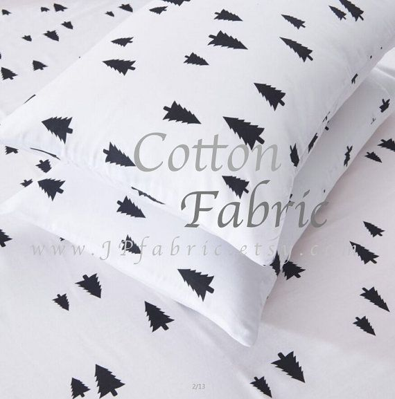 Christmas Tree Fabric. Christmas Fabric. Pure Cotton. by JPfabric