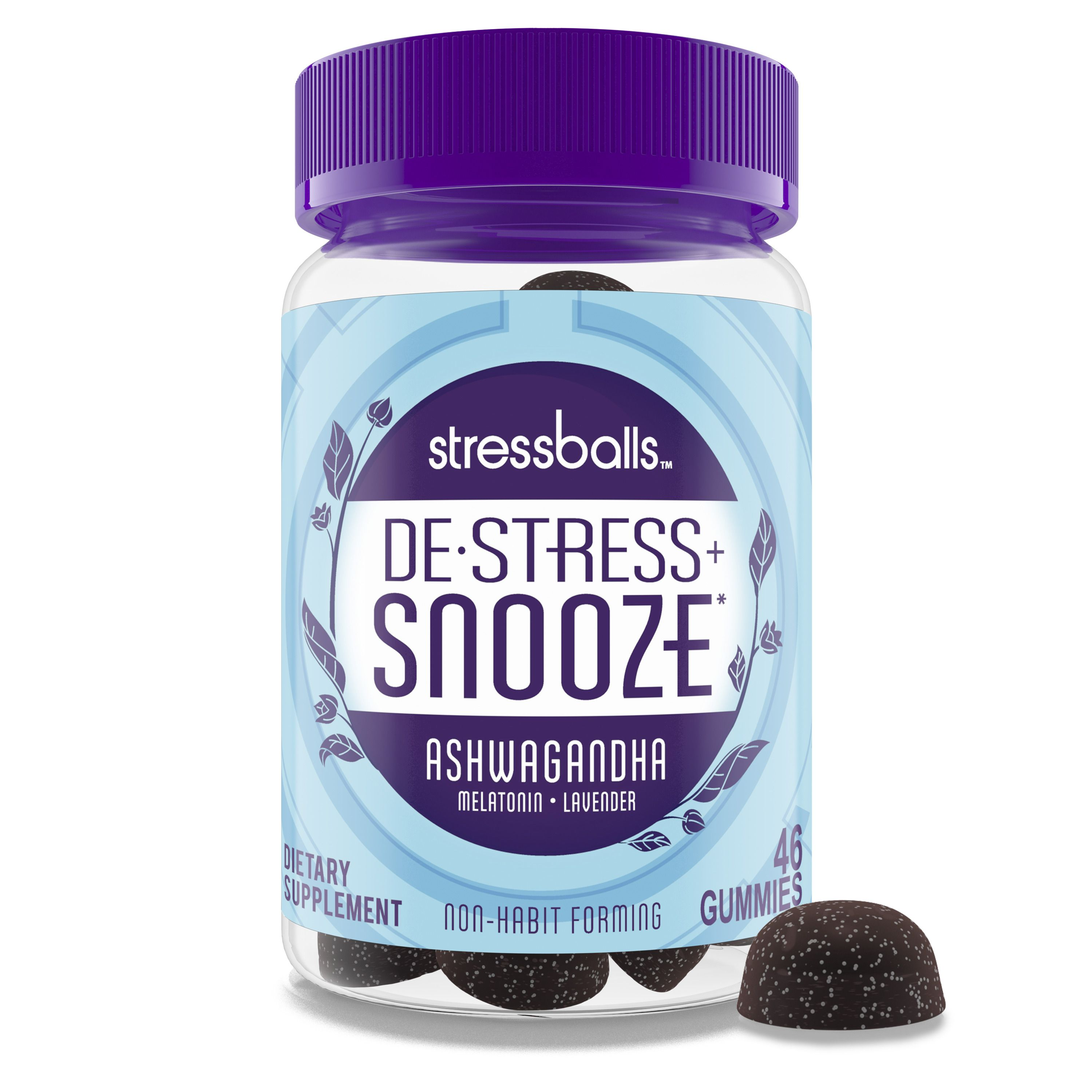 Stressballs De Stress Sleep Supplement Gummies With Melatonin 46