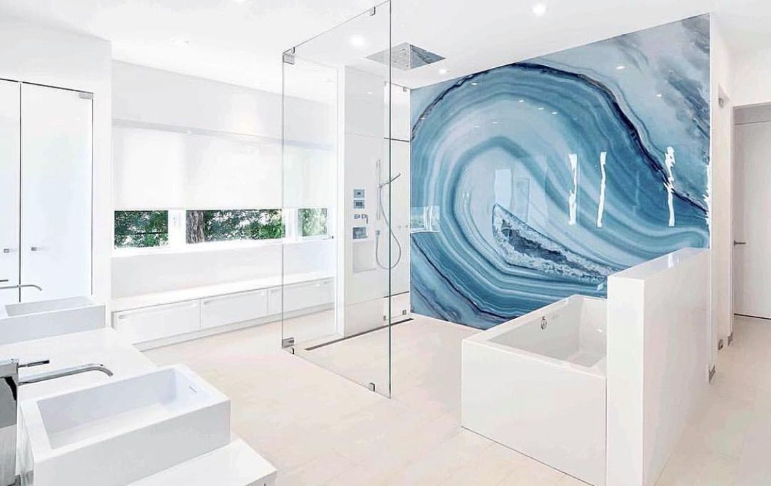 Agate wall done by Alex Turco. | Bathrooms | Pinterest | Agate ...