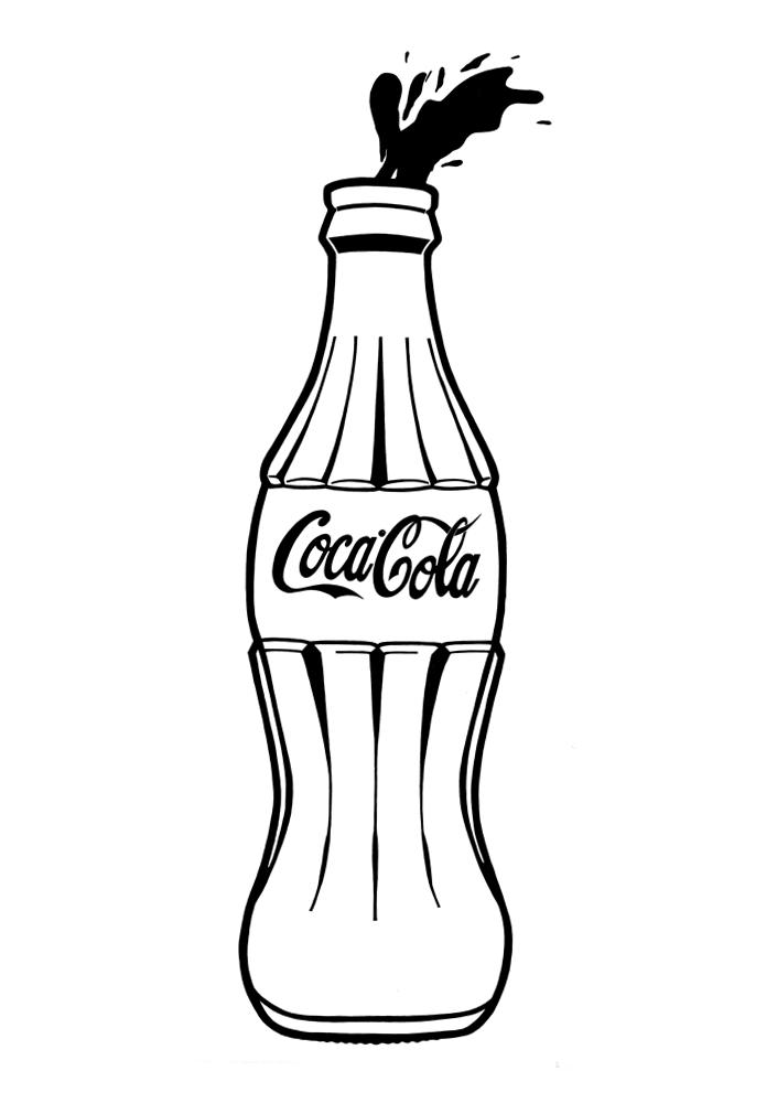 Кока-кола картинки для срисовки