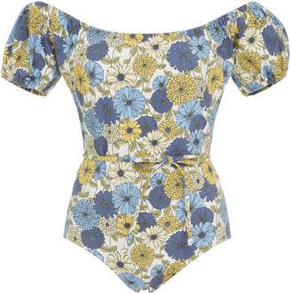 f527d4cae62a4 Shop for Lisa Marie Fernandez Leandra Off-The-Shoulder Maillot One-Piece  Swimsuit at ShopStyle.com