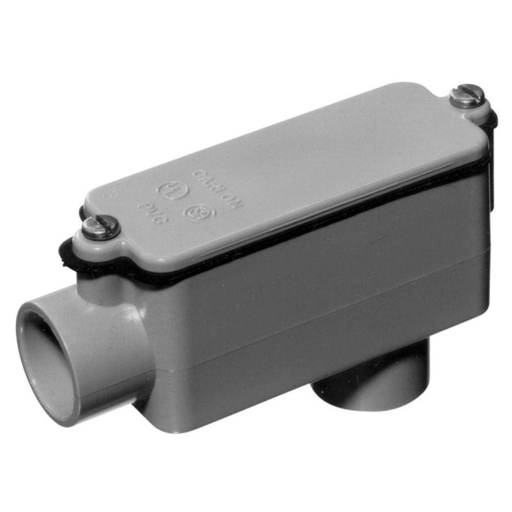 Carlon 1 In Schedule 40 And 80 Pvc Type Lb Conduit Body Case Of 12 E986f Ctn Pvc Conduit Electrical Conduit Fittings Schedule 40
