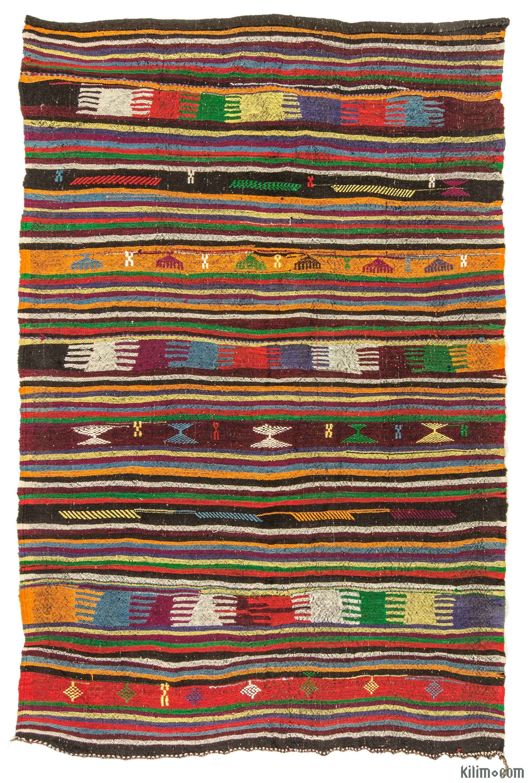 Vintage Turkish Kilim Rug Kilim Woven Vintage Turkish Kilim Rug Overdyed Vintage Rugs
