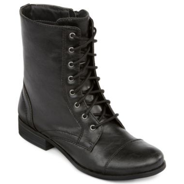 Boots, Jcpenney boots, Black combat boots