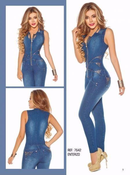 37284f2766816 Macacão jeans Yes Brasil Modela e Levanta BumBum Tecido Jeans e Elastano