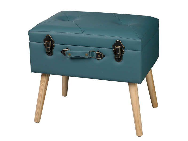Malle Sur Pieds Case Coloris Bleu Vente De Coffre Et Malle Conforama Malle Coffre Petit Rangement