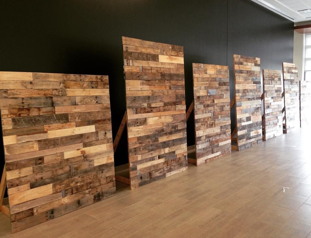 Had The Pleasure Of Making Some Free Standing Pallet Walls For The