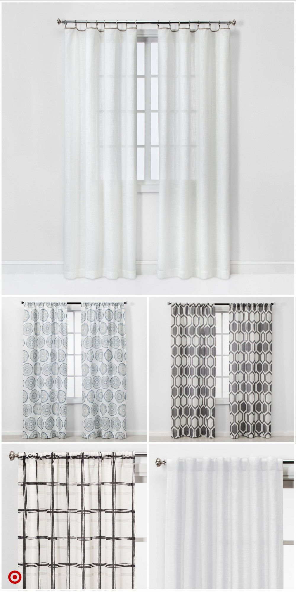 Shop Target For Curtain Panels You Will Love At Great Low Prices Free Shipping On Orders Of 35 Farmhouse Decor Living Room Vintage Industrial Decor Curtains