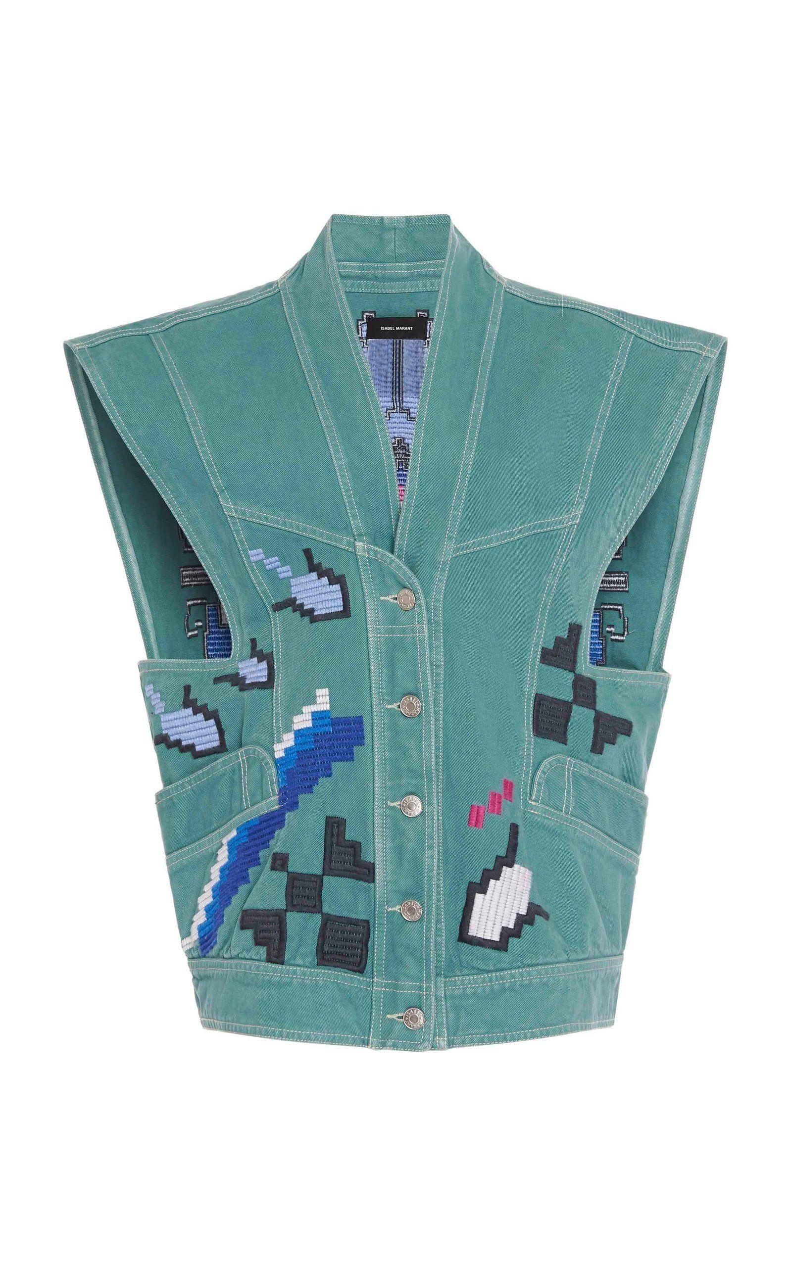 Vobaga womens Blue Striped Denim Distresses Style Front Flap Pocket Short Overalls