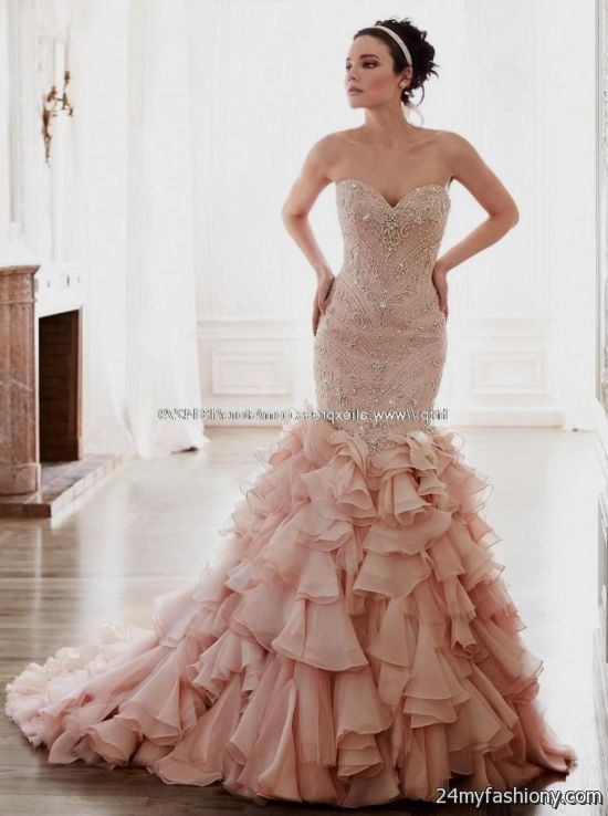 Pink Mermaid Wedding Dresses