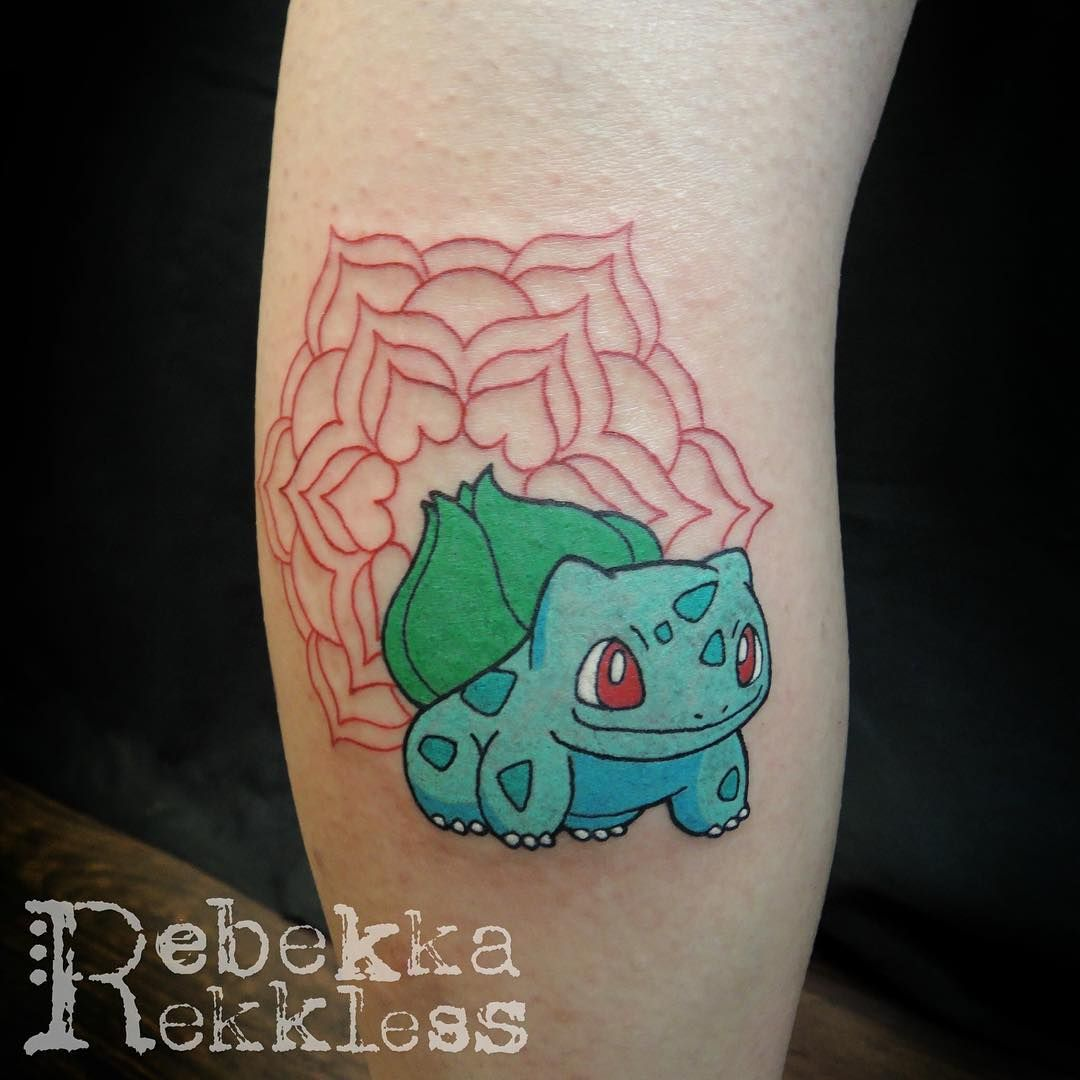 0bb0f5f83 #tattoo #tattooapprentice #tattoodesign #art #illustration #portfolio  #rebekkarekkless #pokemon #pokemontattoo #geektattoo #bulbasaur  #bulbasaurtattoo ...