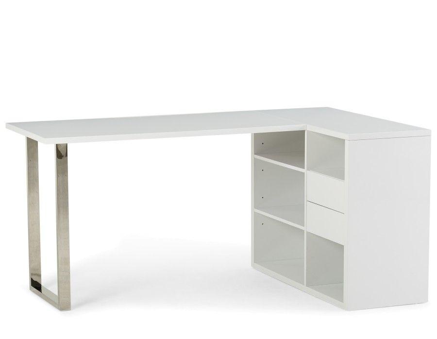 Silvio Desk White Modern Desk White Desks