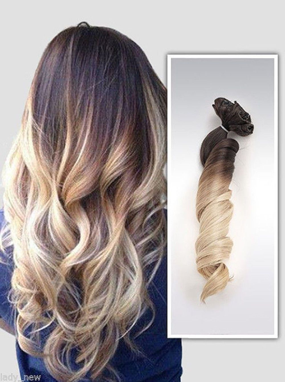 A remy clip in real human hair extensions ombre clipin hair