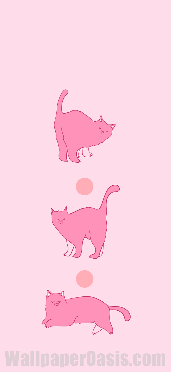 Free Pink Cat Iphone Wallpaper This Design Is Available For Iphone 5 Through Iphone Xs Get Thi Cat Wallpaper Iphone Wallpaper Tumblr Aesthetic Cat Background